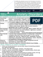 Anxiety Disorder Card