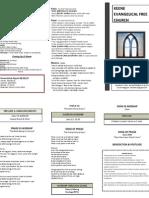 Church Bulletin- September 16