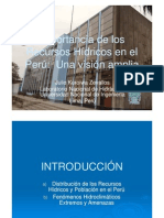 Importancia de Los Recursos Hidricos Continentales en El Peru