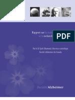 Rapport sur la maladie d'Alzheimer et la recherche actuelle