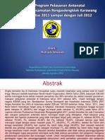 evaluasi program antenatal care