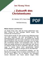 Sun-Myung Moon Die Zukunft Des Christentums