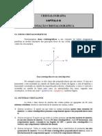 CRISTALOGRAFIA  CAPÍTULO III  NOTAÇÃO CRISTALOGRÁFICA