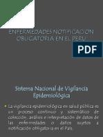 Enfermedades de Declaracion Obligatoria en El Peru