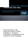 Slatewell Holdings Ltd. l About Slate Exploration L.L.P