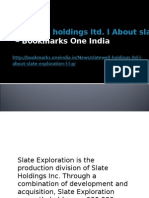 Slatewell Holdings Ltd. l About Slate Exploration L.L.P