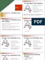 אלגוריתמים- הרצאה 11 | Red Black Trees
