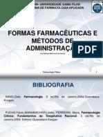 FORMAS FARMACÊUTICAS E VIAS ADMINISTRAÇÃO