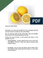 Lemon for Good Health