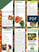 Leaflet Sayur dan Buah