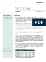 U.S. Equity Strategy (What's Driving the Equity Market) - September 14, 2012