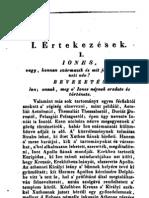 Szabó István  -  Iones,vagy,mit jelent és honnan származik e nemzeti név (1834)