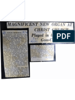 July 1947 - Refurbished Organ Played by Reginald Goss Custard