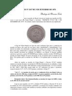 O DECRETO Nº 1817 DE 3 DE SETEMBRO DE 1870