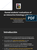 Dental students evaluations of an interactive histology software