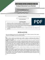 FCMMG 2005 Prova