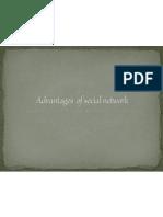 Advantages of Social Network