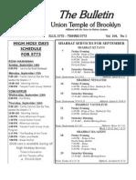 UT Bulletin September 2012