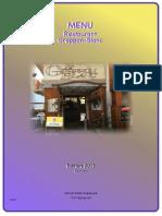 Carte Des Mets - Restaurant Greppon-Blanc - 1993 Veysonnaz (VS-CH)