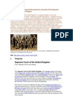 12-09-16 Preliminary Review of the electronic records of the Supreme Court of the United Kingdom