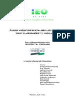 Analiza możliwości wprowadzenia systemu feed-in tariff dla mikro i małych instalacji OZE