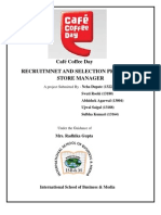 Recruitment and Selection Process for Store Manager of CCD