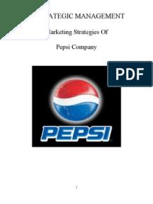 marketing strategy of pepsi blue