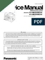 Panasonic Kx-mb2025 2030 Service Manual