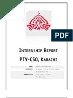 PTV CSO KARACHI INTERNSHIP REPORT