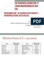 Examenes Radiologicos y Riesgo de Cancer en Pacientes