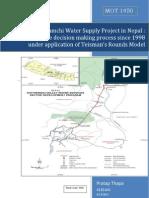 Delay in Melamchi Project in Nepal