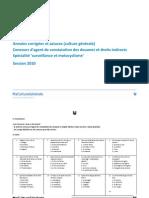 Annales du concours Agent de Constatation Des Douanes - 2010