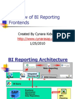 Overview of BI Reporting Frontends