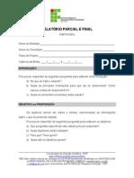 Modelo Relatorio Parcial e Final1