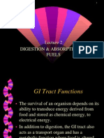 Lecture 02 (Function of GI Tract in Digestion and Adsorption)
