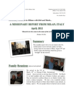 The Italian Memorandum - April 2012 Report