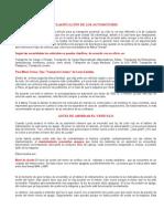 CLASIFICACIÓN DE LOS AUTOMOTORES