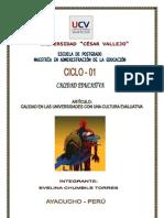 Calidad en Las Universidades Peruanas Con Una Cultura Evaluativa 2