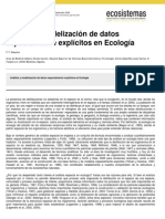 Análisis y modelización de datos en ecologia