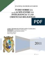Estudio sobre la relación entre la Inteligencia y las Creencias Religiosas