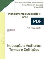 Auditoria e Planejamento - parte I