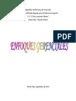 Enfoques Gerenciales II