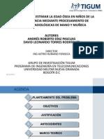 Algoritmo para Estimar la Edad Ósea, Diapositivas Exposición.