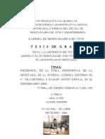 INCIDENCIA DE LA ÉTICA PROFESIONAL DE LA SECRETARIA DE LA EMPRESA AMÉRICA EDITORES EN SU TRAYECTORIA E IMAGEN INSTITUCIONAL, EN EL PERIODO 2003-2004