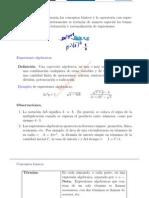 Expresiones Algebraicas Conceptos b´asicos