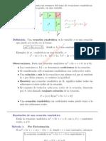 Ecuacion cuadratica Contenidos
