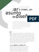Crear o creer un asunto de diseño - Sebastian Uribe