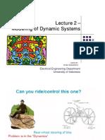 Sistem Kendali - Modeling of Dynamic Systems