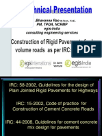 Rigid Pavement Construction as Per IRC SP 62 2004