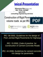 Rigid Pavement Construction as Per IRC SP 62 2004